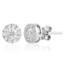 14k White Gold .72ct Diamond Studs