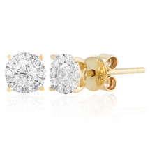 10k Yellow Gold .39ct Diamond Studs