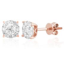 14k Rose Gold .75ct Diamond Studs