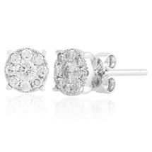 14k  White Gold .40ct Diamond Studs