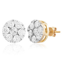 14k Yellow Gold 3.03ct Diamond Studs