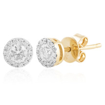 14k Yellow Gold .41ct Diamond Studs