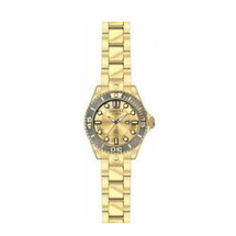 Invicta Women's Pro Diver Quartz 3 Hand Gold Dial Watch 19822