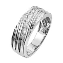 14k White Gold .51ct Diamond Wedding Band