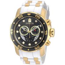 Invicta Men's Pro Diver Quartz Chronograph Platinum Dial Watch 20289