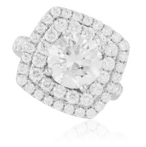 18K White Gold 4.72ct Diamond Engagement Ring