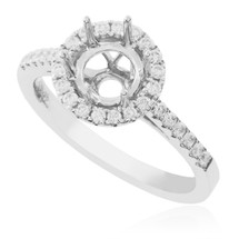 18K White Gold .35ct Engagement Ring Setting