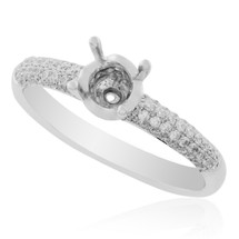 18K White Gold .41ct Engagement Ring Setting