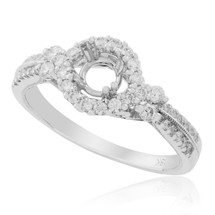 18K White Gold .46ct Engagement Ring Setting