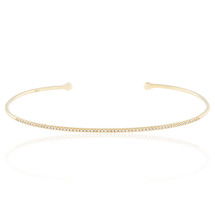 14k Yellow Gold .21ct Diamond Cuff Bracelet
