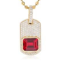 Mens jewelry pendants gemstone page 1 shyne jewelers 10k yellow gold 35ct diamond ruby pendant mozeypictures Choice Image