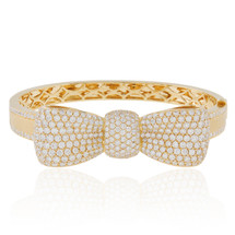 18k Yellow Gold 7.20ct Diamond Bow Bracelet
