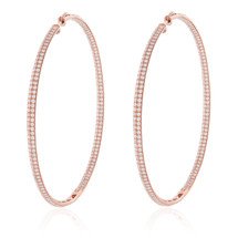 18K Rose Gold 6.28ct Diamond Hoops