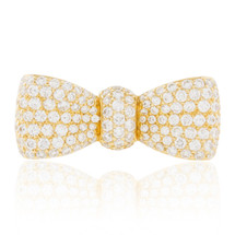 18k Yellow Gold 1.65ct Diamond Bow Ring
