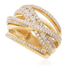 18K Yellow Gold 2.18ct Diamond Ring