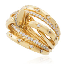 18K Yellow Gold .74ct Diamond Ring