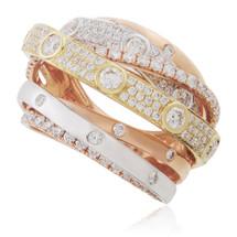 18K Gold Tri-Color 2.29 ct Diamond Ring