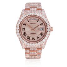 Rolex Day-Date II 18K Rose Gold President 34ct Diamond Automatic Men's Watch