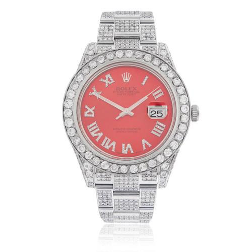 rolex datejust ii stainless steel 23ct diamond automatic men s watch