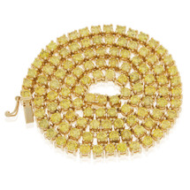 14k Yellow Gold 35ct Yellow Diamond Tennis Chain