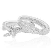 18K White Gold 2.58ct Diamond Engagement Ring Set