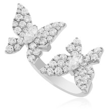 18k White Gold 2.16ct Diamond Butterfly Ring