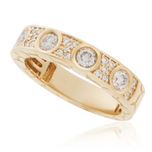 14K Yellow Gold 1.10ct Diamond Ring
