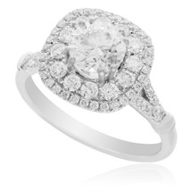 18K White Gold 1.74ct Diamond Engagement Ring