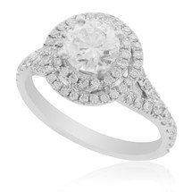 18K White Gold 1.65ct Diamond Engagement Ring