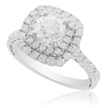 18K White Gold 1.82ct Diamond Engagement Ring Front