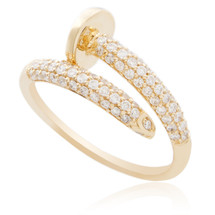 14K Yellow Gold .50ct Diamond Nail Ring