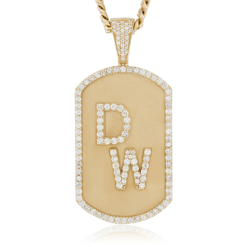 10k yellow gold custom dion waiters pendant shyne jewelers image 1 aloadofball Images
