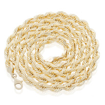 10k Yellow Gold 7mm Rope Chain 32.5in