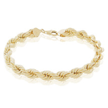 10k Yellow Gold 8mm Rope Bracelet