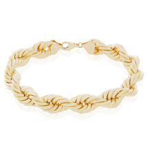 10k Yellow Gold 10.5mm Rope Bracelet