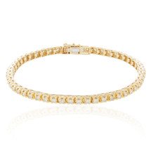 14k Yellow Gold 4.00ct Diamond Tennis Bracelet