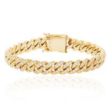 10K Yellow Gold 6.93ct Diamond Cuban Link Bracelet