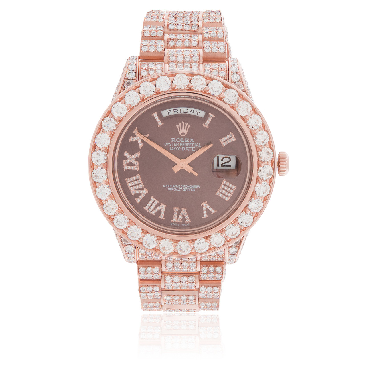 Rolex Day Date 18k Rose Gold President 21 5ct Diamond