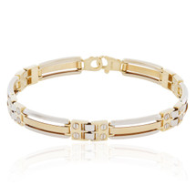 14k Two-Tone Solid Gold Bracelet