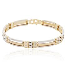 14k Two-Tone Solid Gold Bracelet
