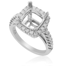 18K White Gold .9ct Diamond Engagement Setting
