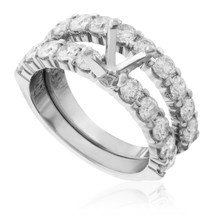 14K White Gold 2.00ct Engagement Ring Setting