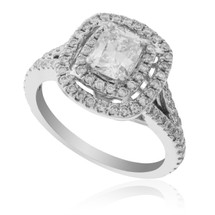 14K White Gold 1.65ct Diamond Engagement Ring