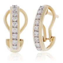10K Yellow Gold .35ct Diamond Earrings
