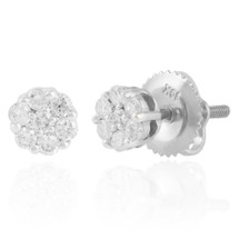 10K White Gold .10ct Diamond Stud Earrings