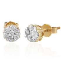 10k Yellow Gold .25ct Diamond Studs