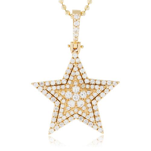 14k yellow gold 251ct diamond star pendant image 1 aloadofball Choice Image