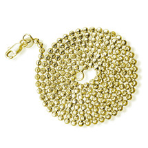 14k Gold 3mm Diamond Cut Moon Ball Chain