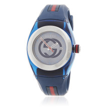 Gucci Sync Blue Rubber Watch