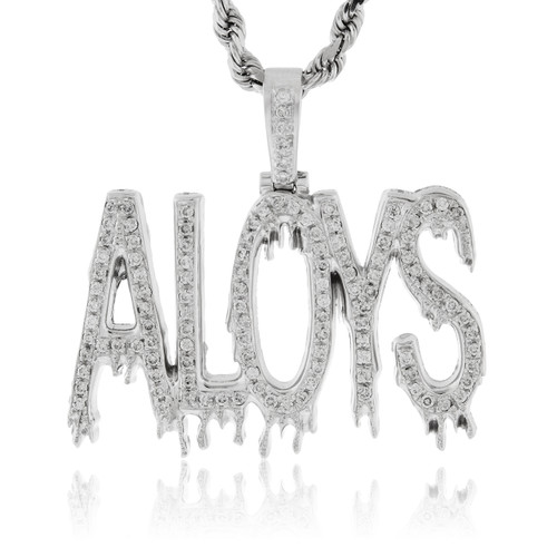 Custom white gold aloys pendant shyne jewelers home mens jewelry custom white gold aloys pendant image 1 aloadofball